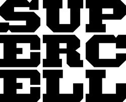 Big asupercell logo black on white