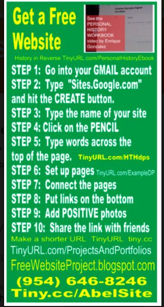 Show students how to build a website and display projects